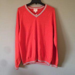 Brooks Brothers Wool Blend V Neck Sweater Men's L